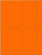 "3"" X 5"" FLUORESCENT ORANGE LABEL (GL3050FO)"