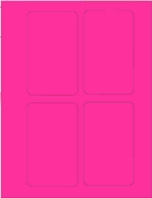 "3"" X 5"" FLUORESCENT PINK LABEL (GL3050FP)"
