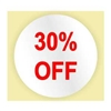 30% OFF STICKER - RED INK