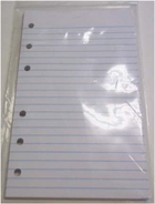 3 1/2 x 6 RULED FILLER PAPER FOR 6 RING LITTLE MEMO BINDERS - 100 SHEET PACKS (#356RULED)