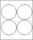 "4"" CIRCLE WHITE OPAQUE LABEL WITH BLOCKOUT ADHESIVE"