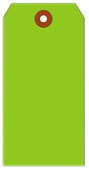 #4 FL GREEN SHIPPING TAG PLAIN