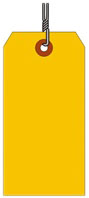 #4 FL ORANGE SHIPPING TAG WIRED