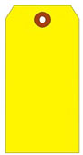 #4 FL YELLOW SHIPPING TAG PLAIN