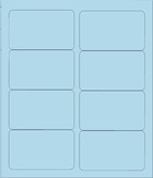 "4"" X 2 1/2"" BLUE PASTEL LABEL (GL2540BP)"
