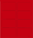 """4"""" X 2 1/2"""" BRILLIANT RED LABELS (GL2540BR)"""
