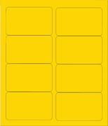 "4"" X 2 1/2"" BRILLIANT YELLOW LABELS (GL2540BY)"