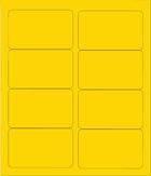 """4"""" X 2 1/2"""" BRILLIANT YELLOW LABELS (GL2540BY)"""