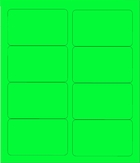 "4"" X 2 1/2"" FLUORESCENT GREEN LABELS (GL2540FG)"