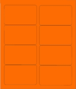 "4"" X 2 1/2"" FLUORESCENT ORANGE LABELS (GL2540FO)"