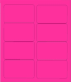 "4"" X 2 1/2"" FLUORESCENT PINK LABELS (GL2540FP)"