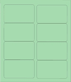 "4"" X 2 1/2"" PASTEL GREEN LABELS (GL2540PG)"