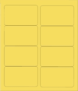 "4"" X 2 1/2"" PASTEL YELLOW LABELS (GL2540PY)"