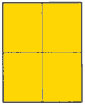 4 X 5 BRILLIANT YELLOW (G4304BY)