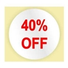 40% OFF STICKER - RED INK
