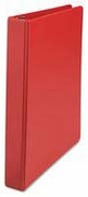 "408R - 1"" little ring binder in red for 8 1/2x 5 1/2 sheet size"