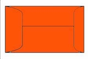4155 Orange coin envelope