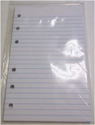 3 x 5 RULED FILLER PAPER FOR 6 RING LITTLE MEMO BINDERS - 80 SHEET PACKS (46530)
