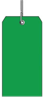 #5 DARK GREEN PLASTIC SHIPPING TAG WIRED