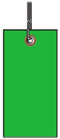 #5 GREEN TYVEK SHIPPING TAG WIRED