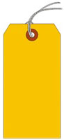#5 FL ORANGE SHIPPING TAG STRUNG