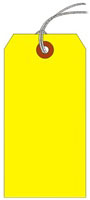 #5 FL YELLOW SHIPPING TAG STRUNG