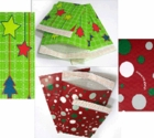 #5 MAILERS - 10 1/2 X 15 CHRISTMAS HOLIDAY BUBBLE MAILERS