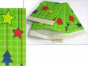 #5 MAILERS - 10 1/2 x 15 GREEN CHRISTMAS HOLIDAY BUBBLE MAILERS