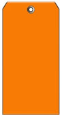 #5 ORANGE PLASTIC SHIPPING TAG PLAIN