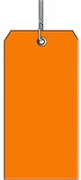 #5 ORANGE PLASTIC SHIPPING TAG WIRED