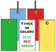 #5 TYVEK SHIPPING TAGS IN COLORS - PLAIN OR WIRED