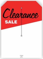 5 X 7 CLEARANCE SALE TAG WITH SLIT