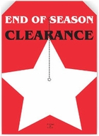 5 X 7 END OF SEASON CLEARANCE TAG WITH SLIT
