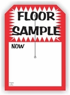 5 X 7 FLOOR SAMPLE TAG WITH SLIT