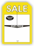 5 X 7 REGULAR PRICE / OUR PRICE SALE TAG WITH SLIT