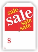 5 X 7 SALE SALE SALE HANG TAG WITH SLIT