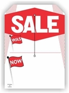 5 X 7 SALE TAG WITH SLIT