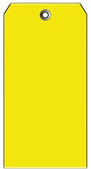 #5 YELLOW PLASTIC SHIPPING TAG PLAIN