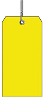 #5 YELLOW PLASTIC SHIPPING TAG WIRED