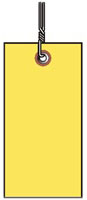 #5 YELLOW TYVEK SHIPPING TAG WIRED