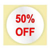 50% OFF STICKER - RED INK