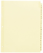 "54410 - PREPRINTED TABBED INDEXES/DIVIDERS   A-Z, 25 DIV. FOR 8 1/2"" X 11"" SHEET SIZE"