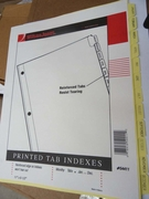 "54411 - PREPRINTED TABBED INDEXES/DIVIDERS   JAN-DEC FOR 8 1/2"" X 11"" SHEET SIZE"