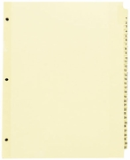 """54412 - PREPRINTED TABBED INDEXES/DIVIDERS   1-31 DAILY FOR 8 1/2"""" X 11"""" SHEET SIZE"""