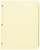 "54412 - PREPRINTED TABBED INDEXES/DIVIDERS   1-31 DAILY FOR 8 1/2"" X 11"" SHEET SIZE"