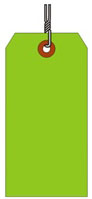 #6 FL GREEN SHIPPING TAG WIRED