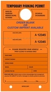 "7 3/4"" X 4 1/4"" FLUORESCENT ORANGE PARKING HANG TAG"
