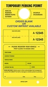 "7 3/4"" X 4 1/4"" FLUORESCENT YELLOW PARKING HANG TAG"