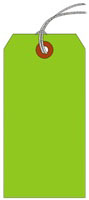 #7 FL GREEN SHIPPING TAG STRUNG