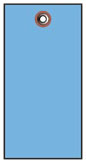 #8 BLUE TYVEK SHIPPING TAG PLAIN